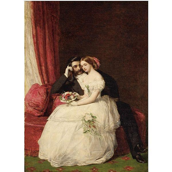 William Powell Frith, R.A. , 1819-1909 the proposal oil on panel