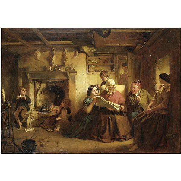 John Faed, R.S.A. , 1820-1902 the soldier's return oil on board