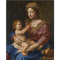 Michel Corneille the Younger , Paris 1642 - 1708 The Madonna and Child oil on canvas
