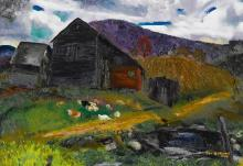 GEORGE BELLOWS | Old Barn, Shady Valley
