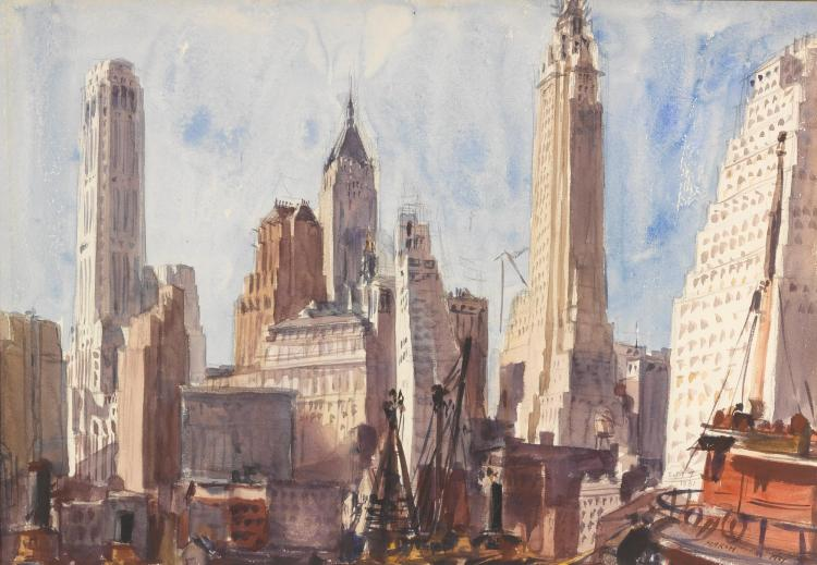 REGINALD MARSH | Skyscrapers