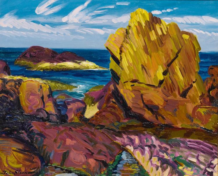 JOHN SLOAN | Yellow Rock, Gloucester