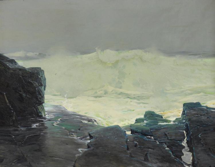 FREDERICK JUDD WAUGH | Surf and Fog; Monhegan Maine
