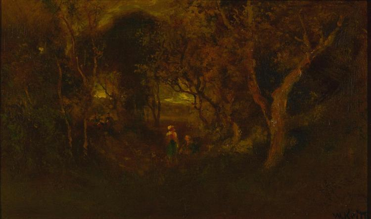 ATTRIBUTED TO WILLIAM KEITH | In a Wooded Glen