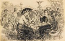 JOHN SLOAN | The Café at Bethesda Fountain, Central Park
