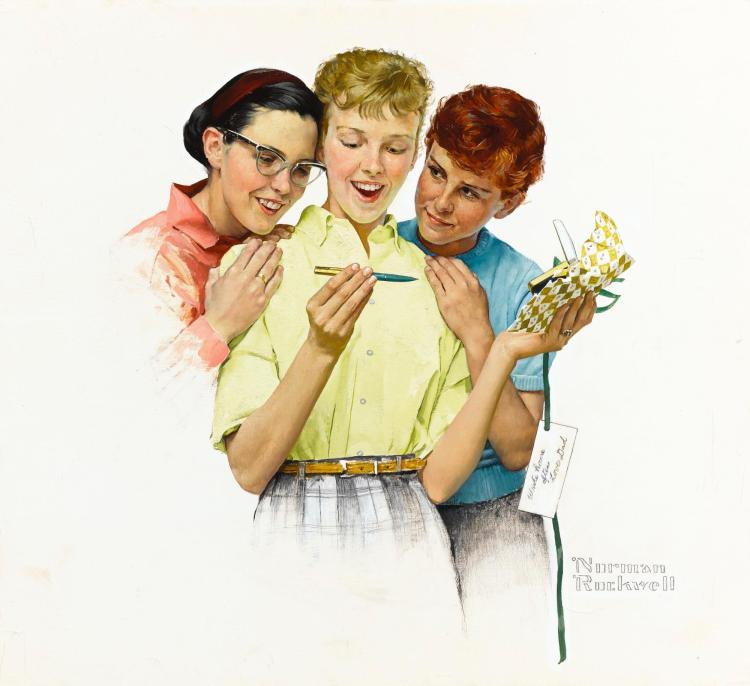 NORMAN ROCKWELL | He Sent Me a Parker Pen (Write Home Often)