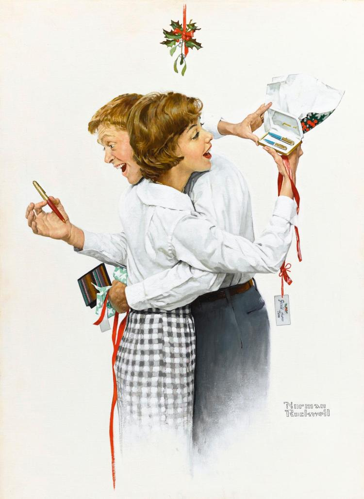 NORMAN ROCKWELL | They Gave Each Other a Parker 61 (Fair Exchange)