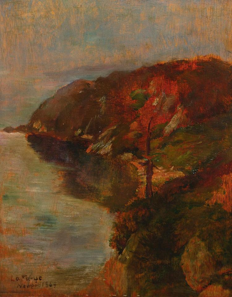 JOHN LA FARGE | Study of Fog Effect, Brenton's Cove