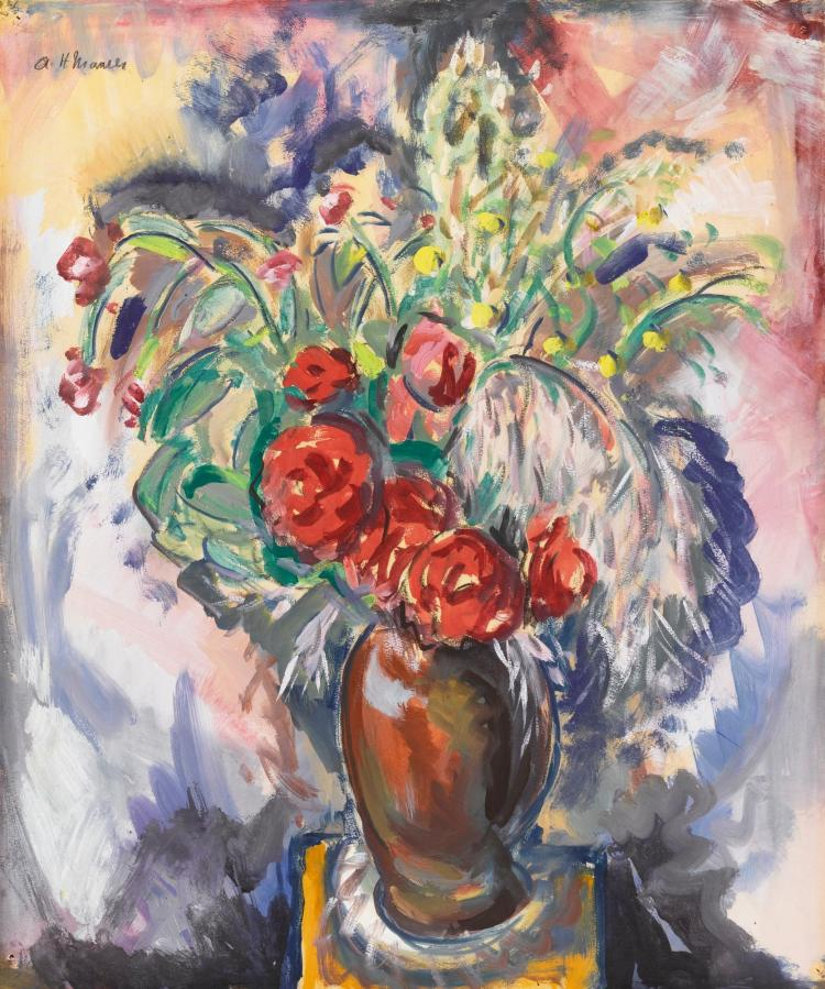 ALFRED HENRY MAURER | Still Life with Roses in a Vase
