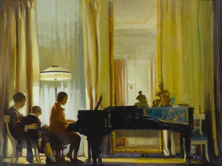 JOHN CHRISTEN JOHANSEN | The Recital (Drawing Room, Town House)