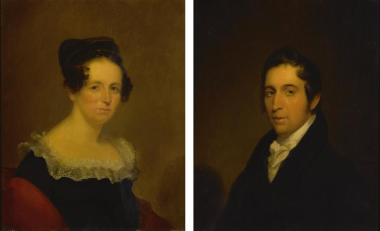 CHESTER HARDING | Mr. and Mrs. George Hallett (Eliza Gordon): A Pair of Paintings