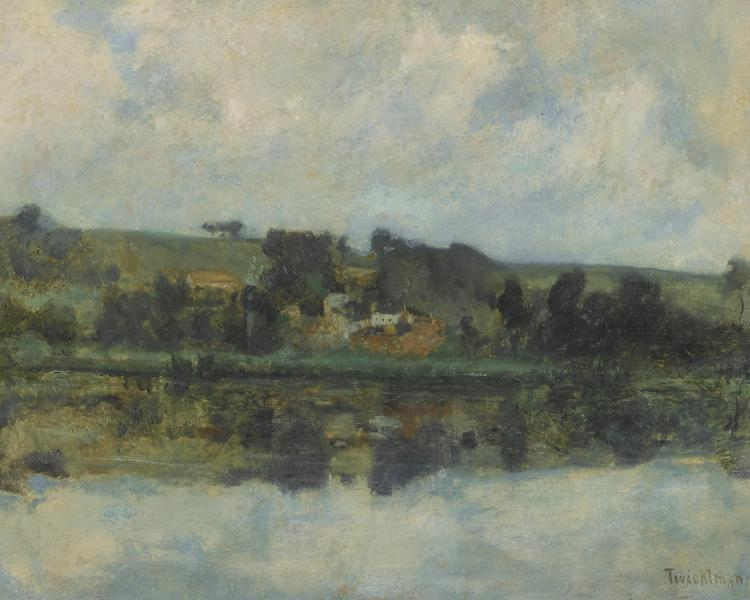 JOHN HENRY TWACHTMAN | French River Scene (probably <em>On the Bethune</em>)