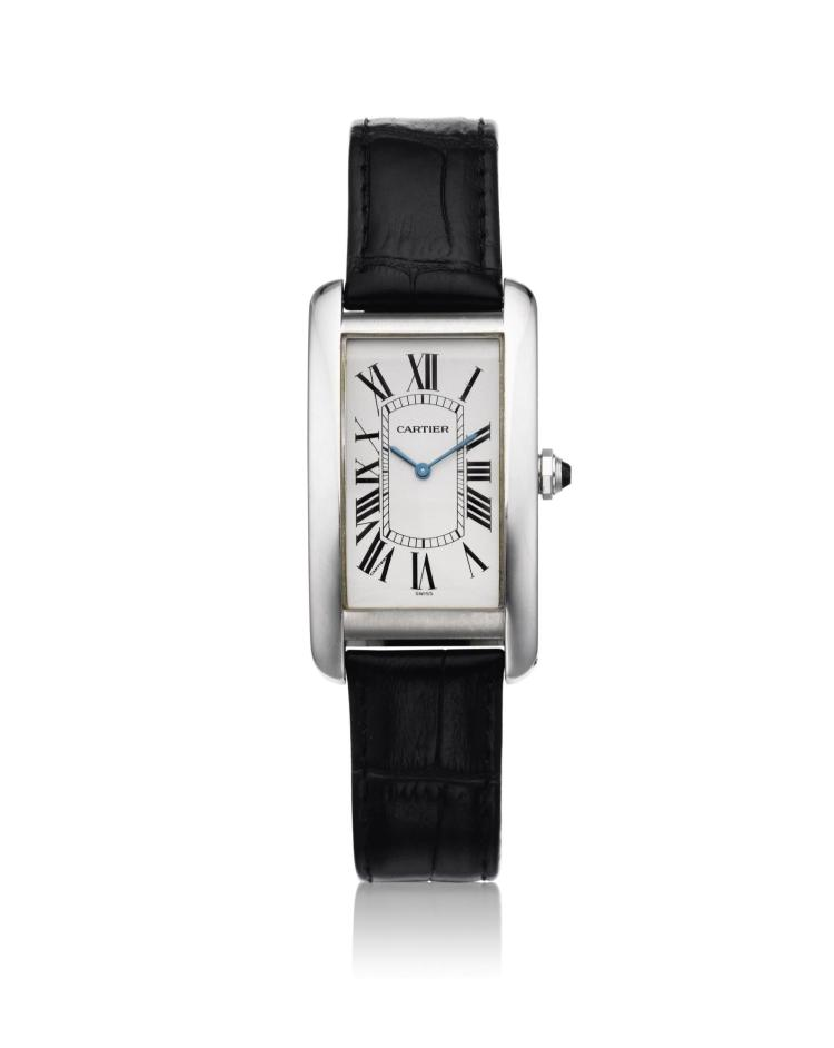 CARTIER | A PLATINUM RECTANGULAR WRISTWATCH REF 1734 CASE GC11629 TANK CIRCA 2005