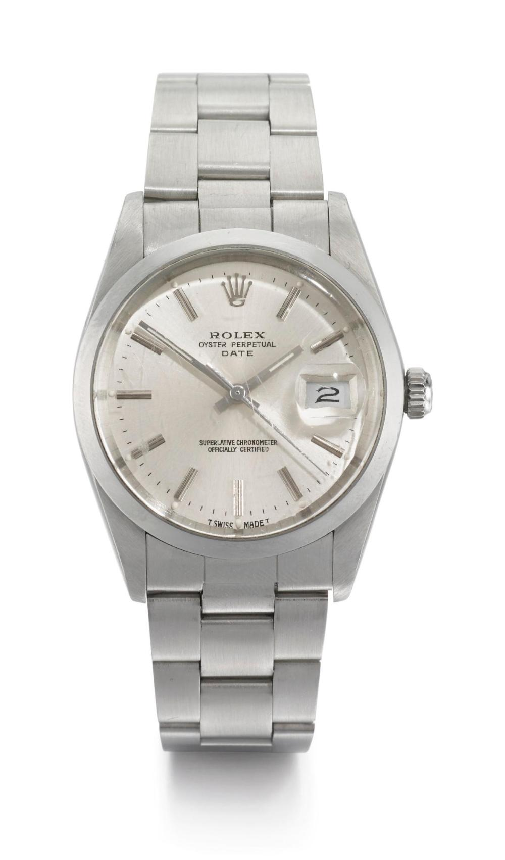 ROLEX | A STAINLESS STEEL AUTOMATIC CENTRE SECONDS WRISTWATCH WITH DATE AND BRACELET REF 15000 CASE R943664 OYSTER CIRCA 1987