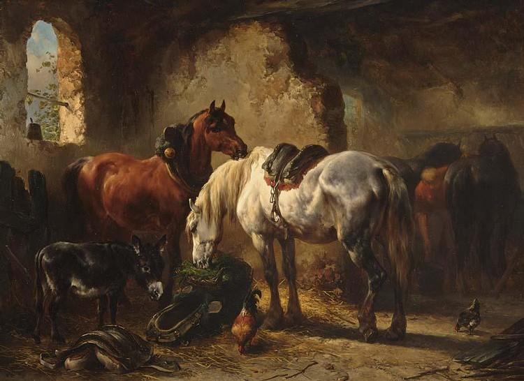 WOUTERUS VERSCHUUR DUTCH, 1812-1874