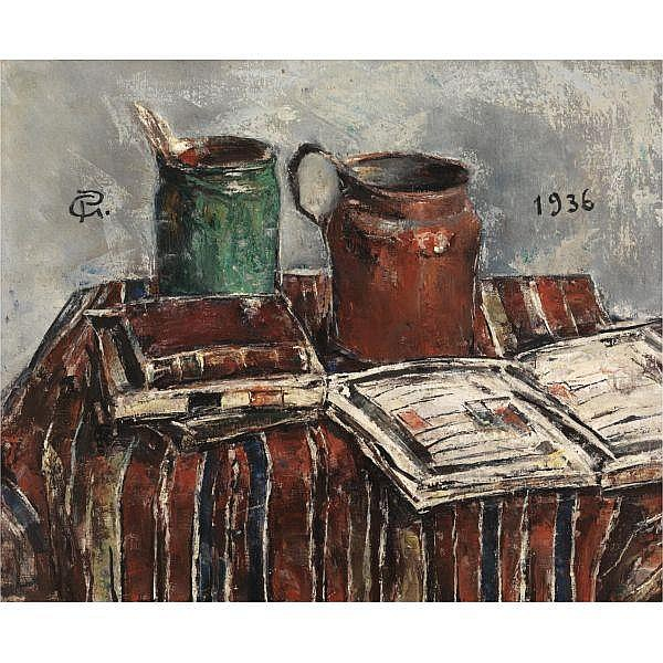Gheorghe Petrascu , Romanian 1872 - 1949 Still Life oil on canvas