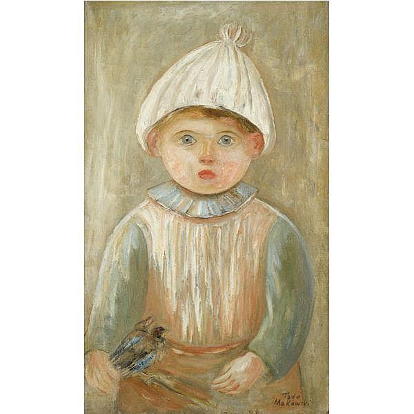 Tadeusz Makowski , Polish 1882 - 1932   Petit garcon oil on canvas
