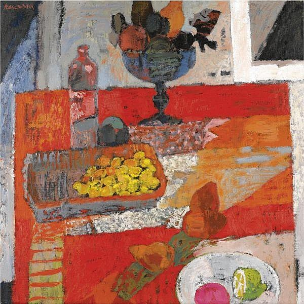 Jan Szancenbach , Polish 1928-1998 Still Life with Fruit oil on canvas