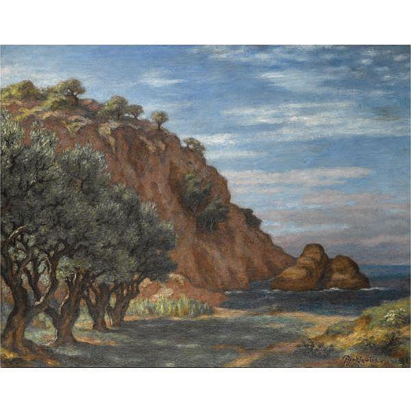 - Józef Pankiewicz , Polish 1866 - 1940 La Ciotat, Provence oil on canvas