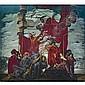 - José María Sert , Spanish 1874 - 1945 Los pajareros (The Bird Sellers) oil on panel   , Josep Maria Sert, Click for value
