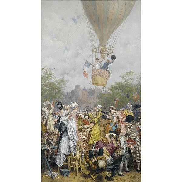 Frederik Hendrik Kaemmerer , Dutch 1839 - 1902 Une ascension en l'an VIII oil on canvas