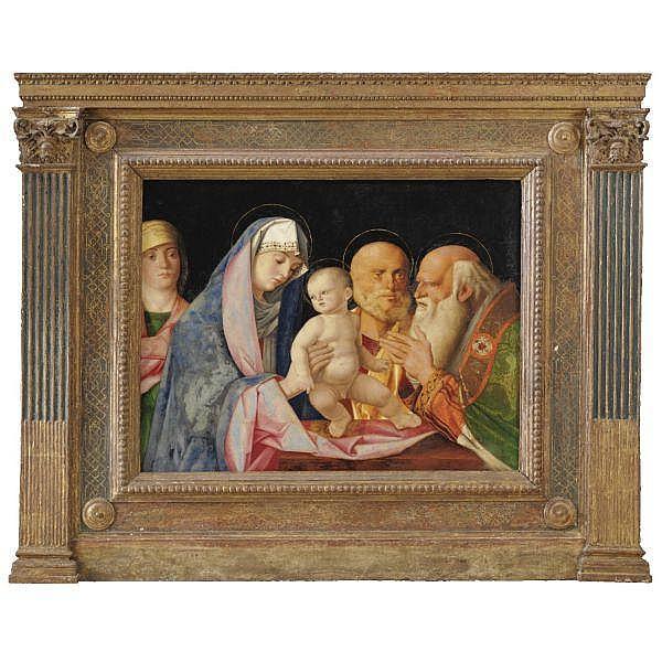 Bottega di Giovanni Bellini , Venezia 1430-1516 Presentazione al Tempio olio su tavola oil on panel