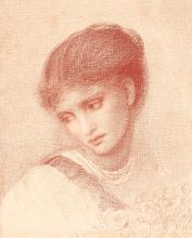 SIR EDWARD COLEY BURNE-JONES, BT.,  A.R.A., R.W.S. | Portrait of Maria Zambaco
