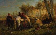 ADOLF SCHREYER   Resting cavaliers