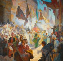 LUDWIG DEUTSCH | The Procession of the Mahmal through the Streets of Cairo