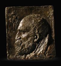 JULES BASTIEN-LEPAGE | Relief portrait of the Artist's Father, Claude Bastien Lepage