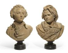 ALBERT-ERNEST CARRIER-BELLEUSE | Pair of Busts of Beethoven and Mozart
