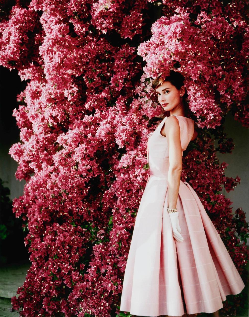 NORMAN PARKINSON | Audrey Hepburn with Flowers II, 1955