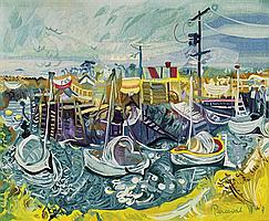 John Perceval 1923-2000 Tapisserie d'Aubusson (manufacturer)FISHERMAN'S INLET, TOORADIN (1975) wool and cotton
