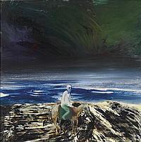Sidney Nolan 1917-1992 ANTARCTIC EXPLORER 1964 oil on composition board