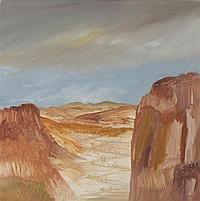 Sidney Nolan 1917-1992 CENTRAL AUSTRALIA 1988 oil on canvas