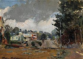 Walter Withers 1854-1914 WARRANDYTE (CIRCA 1908-1910) oil on wood