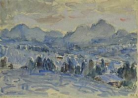 John Russell 1858-1930 DAWN (CIRCA 1914) watercolour over pencil on paper