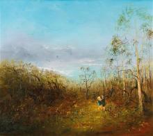 DAVID BOYD 1924-2011 (Children Playing) oil on canvas 80.5 x 91.5 cm