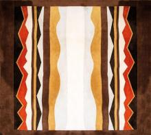A custom manufactured rug, designed by Alan Wanzenberg, executed by V'Soske 422 x 496.5 cm