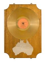 An Australian Gold Record presented to Johnny Cash in recognition of record sales in excess of 18,000 for Ring of Fire: The Best of...