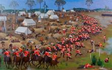 GEORGE BROWNING 1918-2000 Eureka Stockade 1985-1989 oil on canvas 217 x 341.5 cm