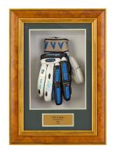 A Slazenger V900 batting glove, used during the Australia Cricket Tour to India in 2004, signed by Michael Clarke 52.5 cm high, 37.5...