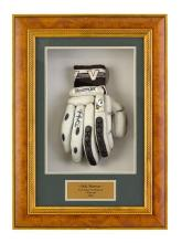 A Slazenger V Pro Tour batting glove, used during the Tour Super Challenge II Series, Australia vs. Pakistan 2002, signed by Damien...