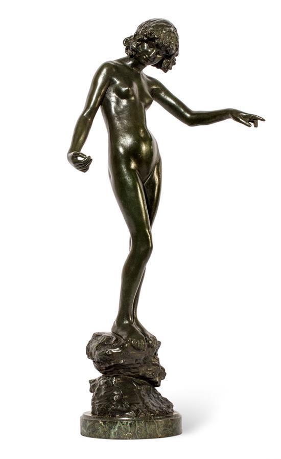 EDWARD ONSLO FORD 1852-1901 Folly (1893) bronze 48.5 cm high; 51 cm high (including base)