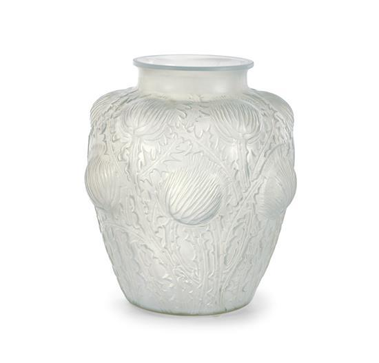 A René Lalique 'Domrémy' vase, designed 1926