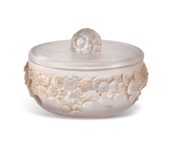 A René Lalique 'Primeveres' lidded box, designed 1930