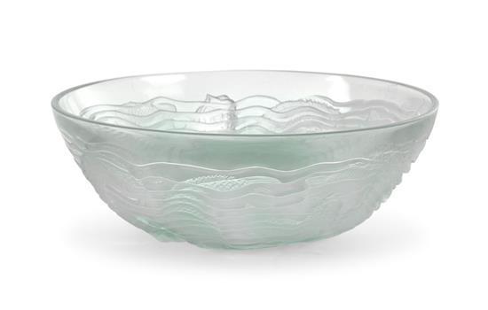 A René Lalique 'Dauphins' bowl, designed 1932