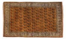 A silk Qum rug, Central Persia, 20th century
