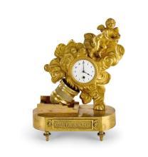 A small gilt bronze Directoire timepiece, circa 1795