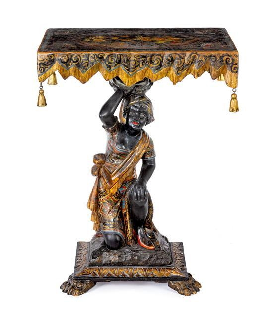 A Venetian Blackamoor console table, 19th Century